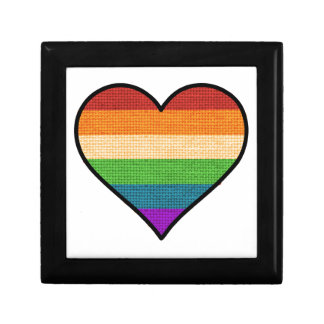 LGBT Love is Love Rainbow Heart Small Square Gift Box
