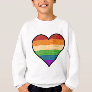 LGBT Love is Love Rainbow Heart Sweatshirt