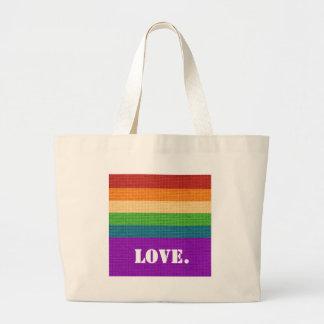 LGBT Love Large Tote Bag