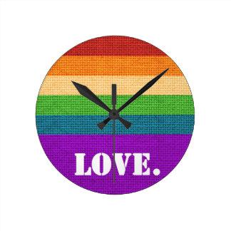 LGBT Love Round Clock