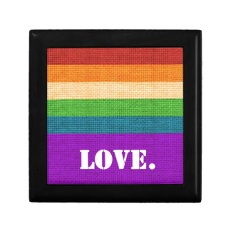 LGBT Love Small Square Gift Box