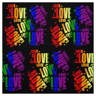 LGBT Love Text Fabric