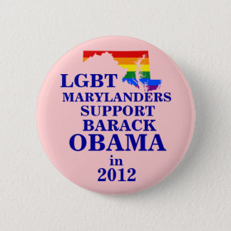 LGBT Marylander for Obama 2012 6 Cm Round Badge
