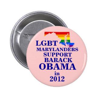 LGBT Marylander for Obama 2012 6 Cm Round Badge