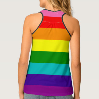 LGBT Original 8 Stripes Rainbow Flag Gay Pride Singlet