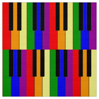 LGBT Piano Keys Fabric