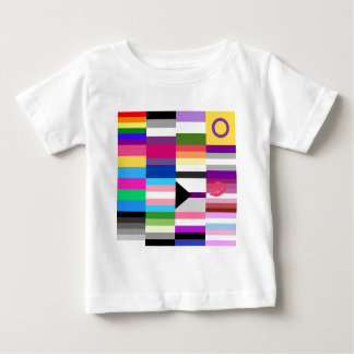 LGBT Pride Flag Collage Baby T-Shirt