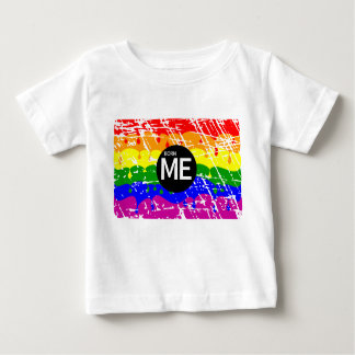 LGBT Pride Flag Dripping Paint Born Me Baby T-Shirt
