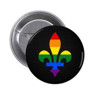 LGBT pride fleur-de-lis Button