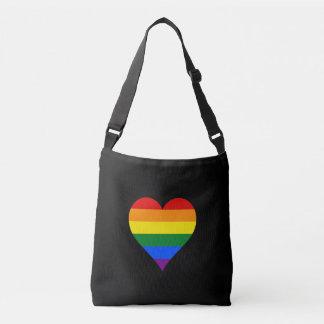 LGBT pride hearts Crossbody Bag