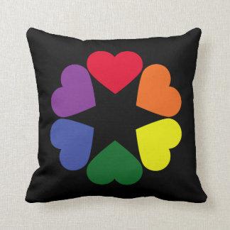 LGBT pride hearts Cushion