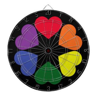 LGBT pride hearts Dartboard