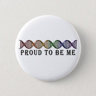 LGBT Pride Rainbow DNA 6 Cm Round Badge