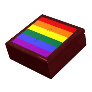 LGBT Pride Rainbow Flag Large Square Gift Box