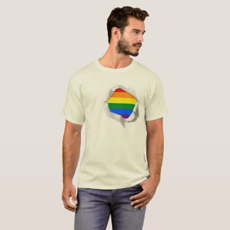 LGBT Pride Rainbow Flag True Colors Torn T-Shirt
