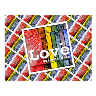 LGBT Pride Symbol Nature Rainbow Love Defeats Hate Postcard