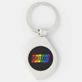 LGBT pride text sign Key Chain