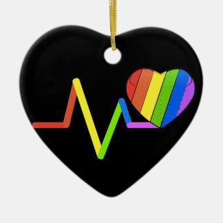 LGBT Pulse Orlando Tribute #LoveWins Ceramic Ornament