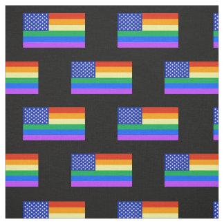 LGBT Rainbow American Flag Fabric