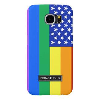 LGBT Rainbow American Flag Samsung Galaxy S6 Cases
