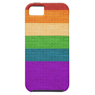 LGBT Rainbow Burlap iPhone 5 Cases