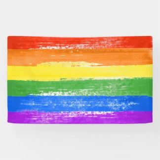 LGBT RAINBOW FLAG PAINT BANNER