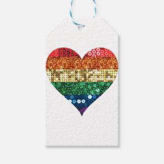 lgbt rainbow heart gift tags
