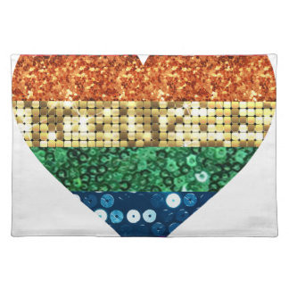 lgbt rainbow heart placemat