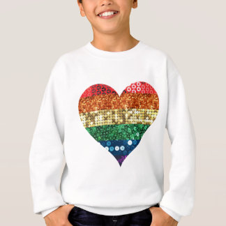 lgbt rainbow heart sweatshirt