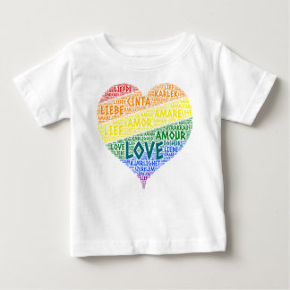 LGBT Rainbow Hearth Flag illustrated with Love Baby T-Shirt