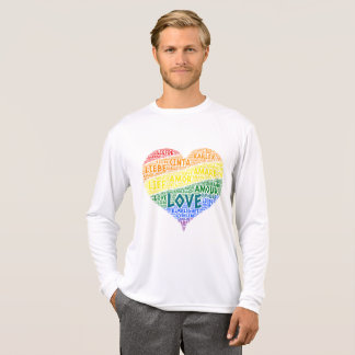 LGBT Rainbow Hearth Flag illustrated with Love T-Shirt