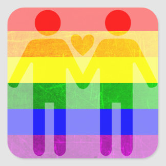 LGBT Rainbow Pride Holding Hands Stickers