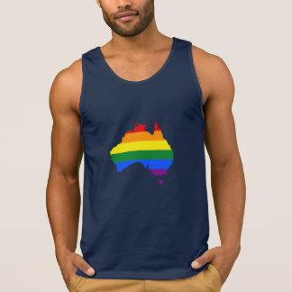 LGBT rainbow pride map of Australia Singlet