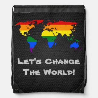 LGBT rainbow pride world map Backpack