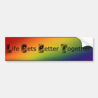 LGBT Rainbow Protest Resist Bumper Sticker