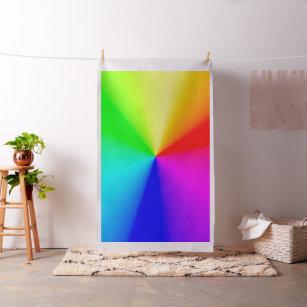 LGBT Rainbow Radial Colours Fabric