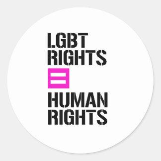 LGBT Rights equals Human Rights - - LGBTQ Rights - Classic Round Sticker