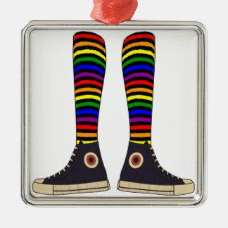 LGBT Socks Metal Ornament