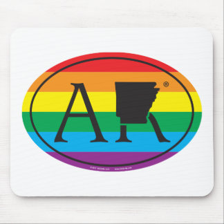 LGBT State Pride Euro: AR Arkansas Mouse Pad