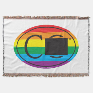 LGBT State Pride Euro: CO Colorado Throw Blanket