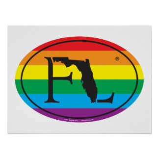 LGBT State Pride Euro: FL Florida Poster