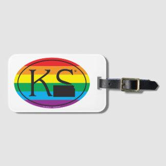 LGBT State Pride Euro: KS Kansas Luggage Tag