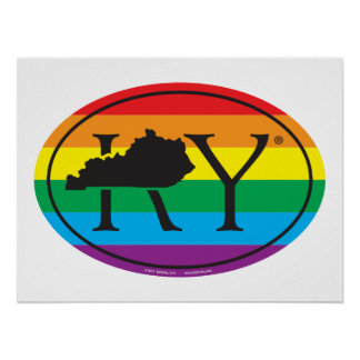 LGBT State Pride Euro: KY Kentucky Poster