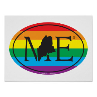 LGBT State Pride Euro: ME Maine Poster