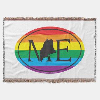 LGBT State Pride Euro: ME Maine Throw Blanket