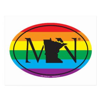 LGBT State Pride Euro: MN Minnesota Postcard