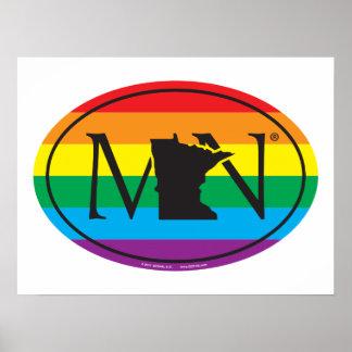 LGBT State Pride Euro: MN Minnesota Poster