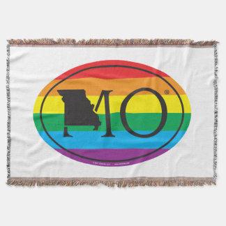 LGBT State Pride Euro: MO Missouri Throw Blanket