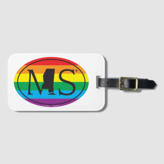 LGBT State Pride Euro: MS Mississippi Luggage Tag