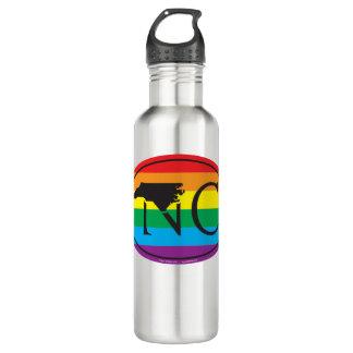 LGBT State Pride Euro: NC North Carolina 710 Ml Water Bottle